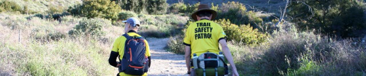Trail Safety Patrol Volunteer hiking and patrolling trails