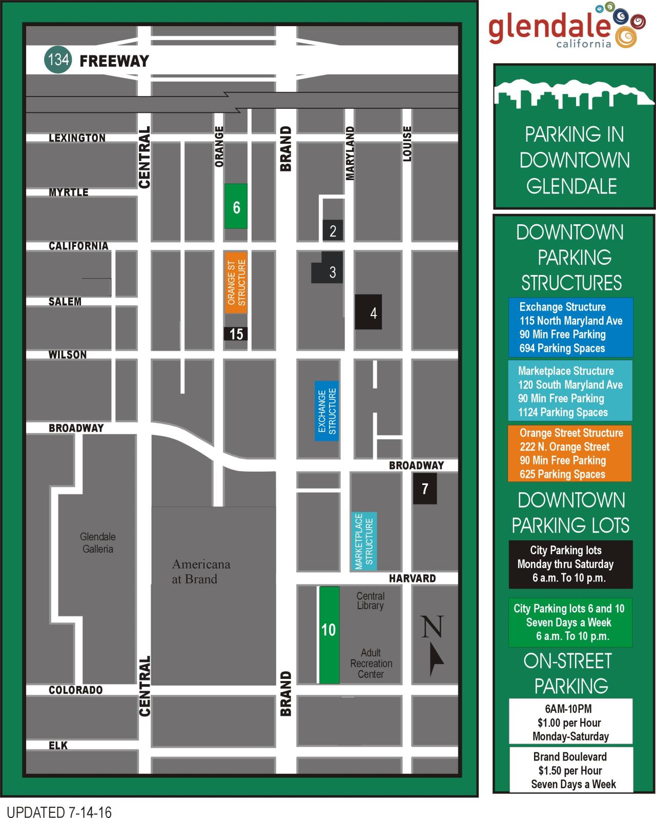 Cruise Night Parking Map