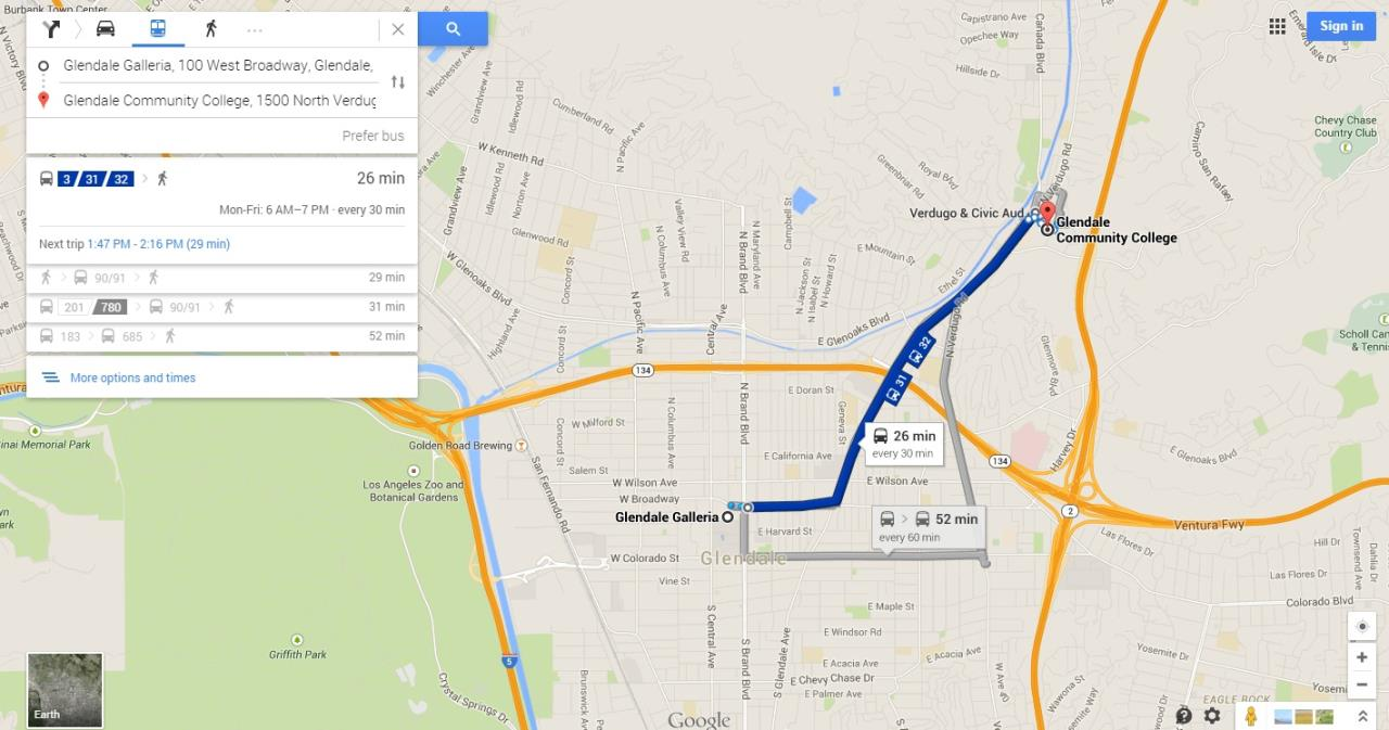 Google Transit Map