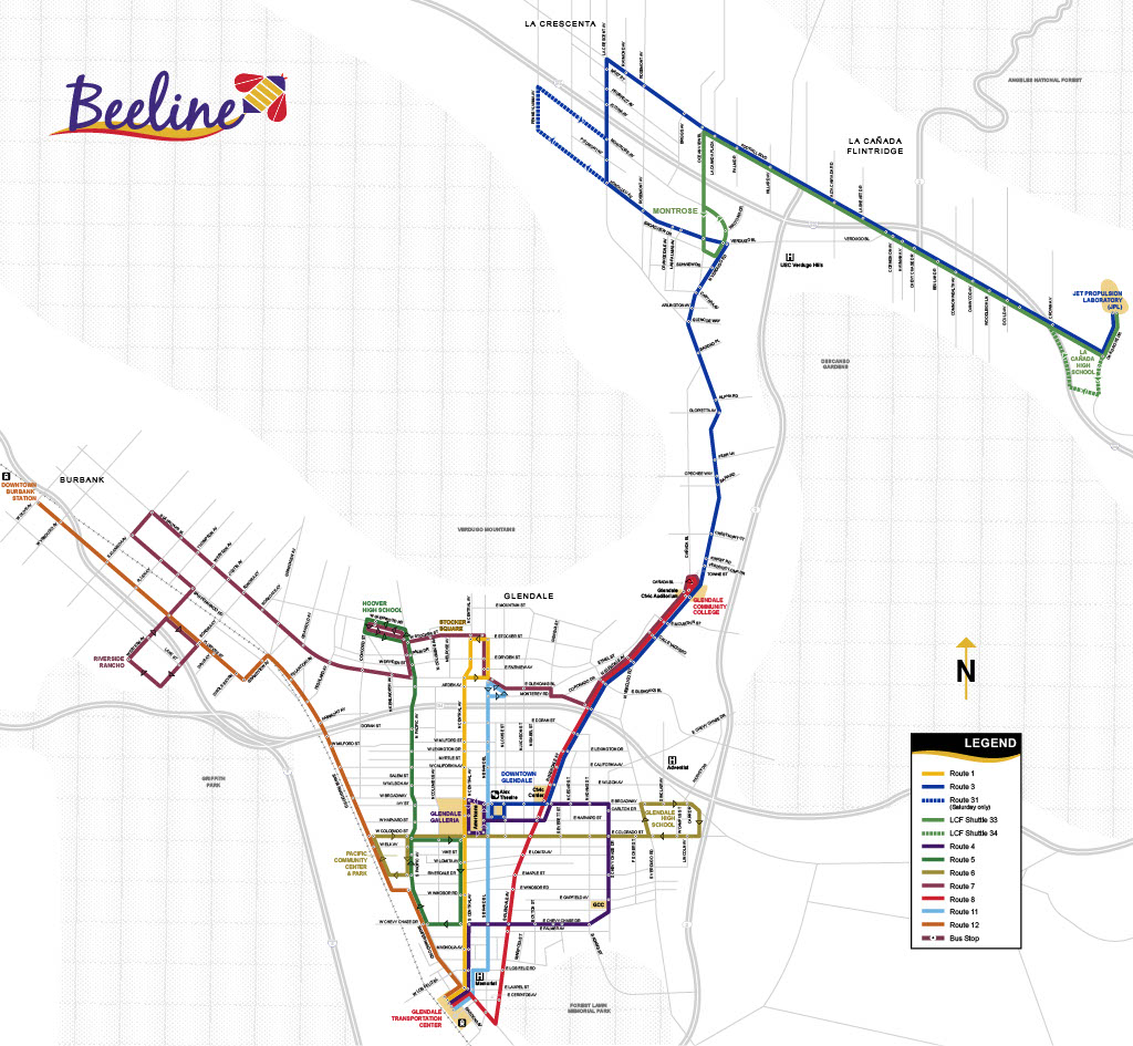 System Map City Of Glendale CA - Map ca