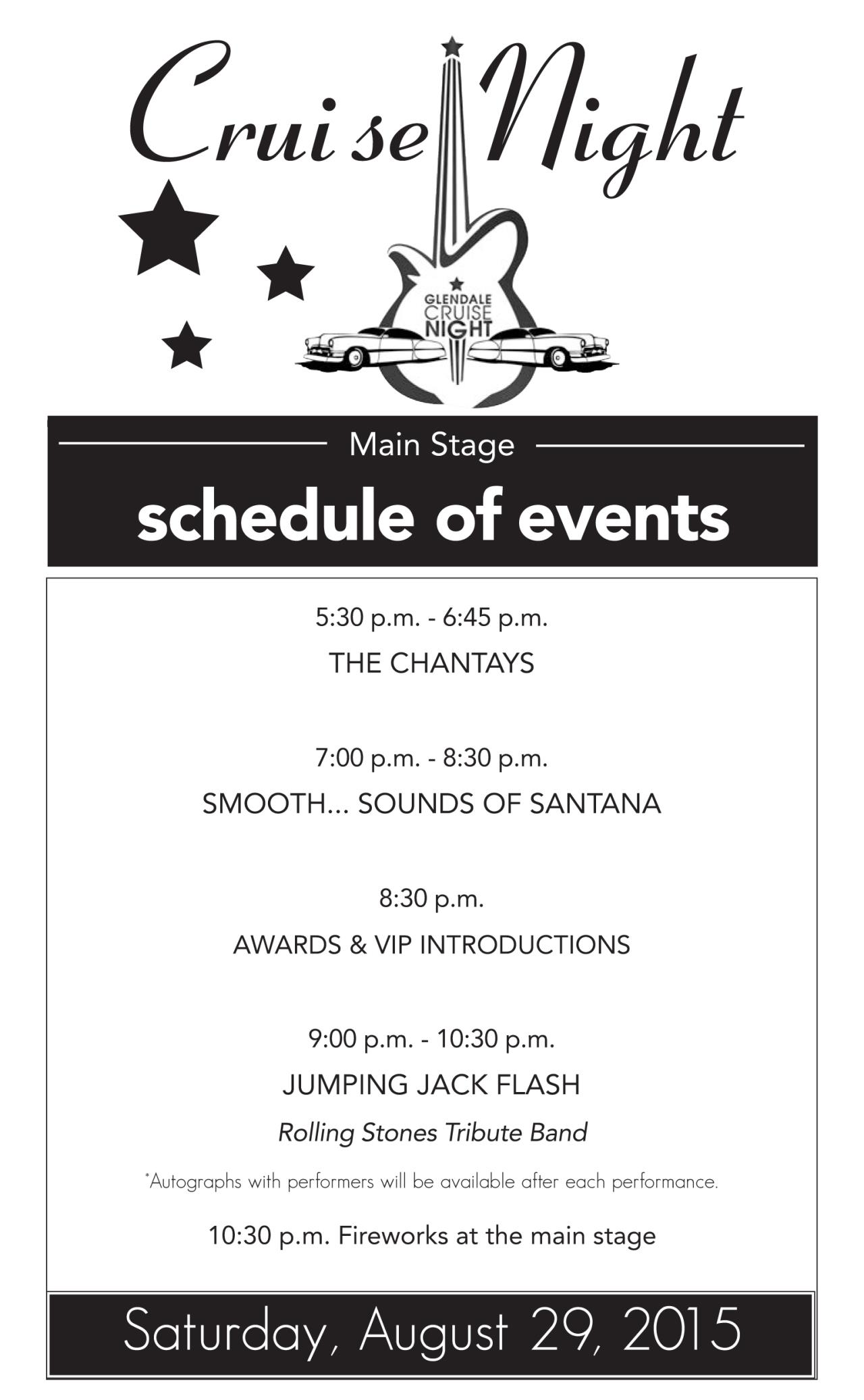 Schedule of Events CN (August)