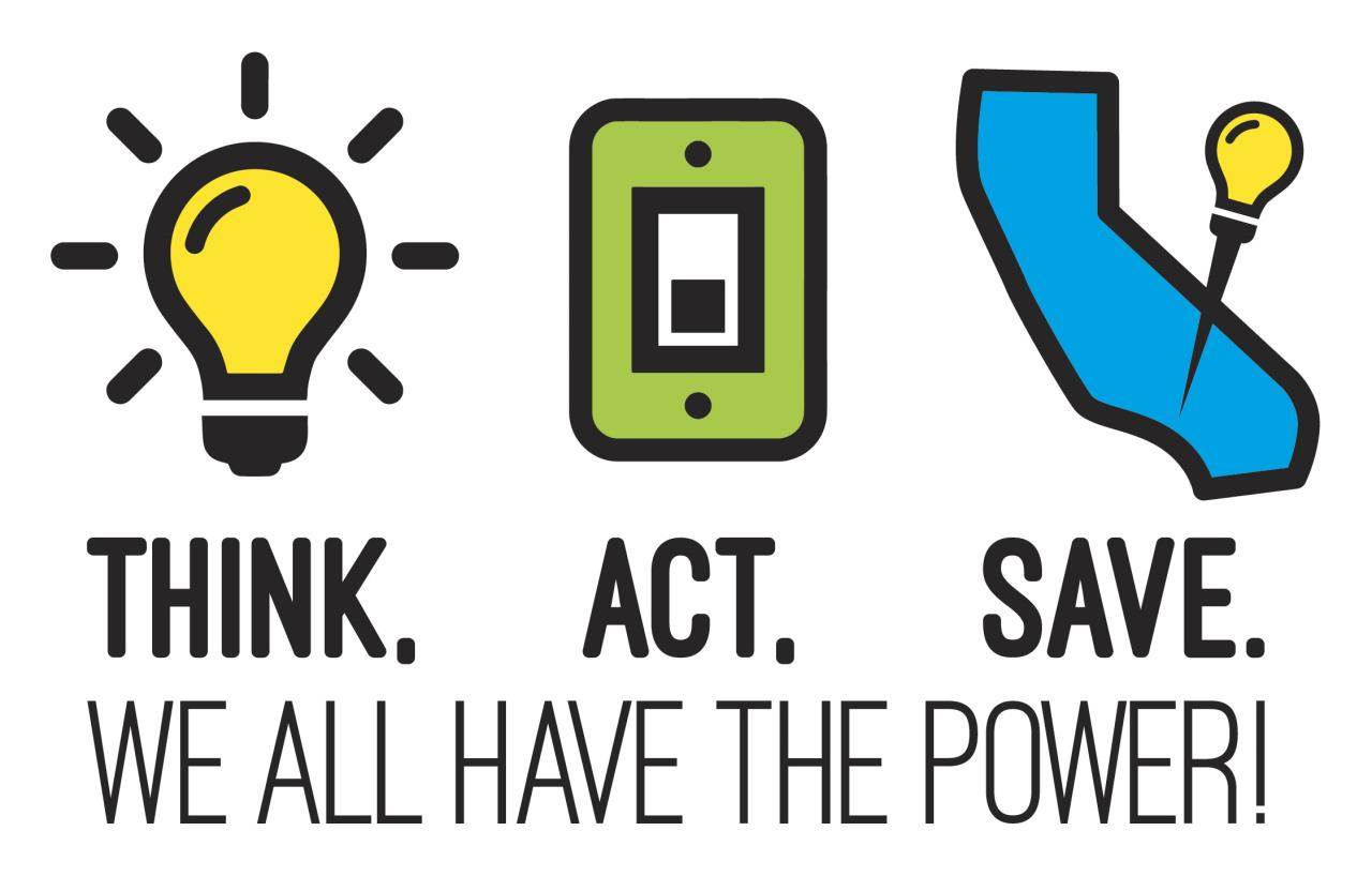 Energy saving tips rolling black out information city of for Energy conservation facts