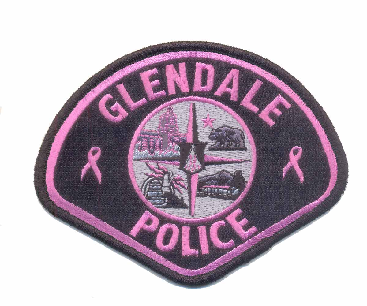 glendale police (cancer awareness colors)