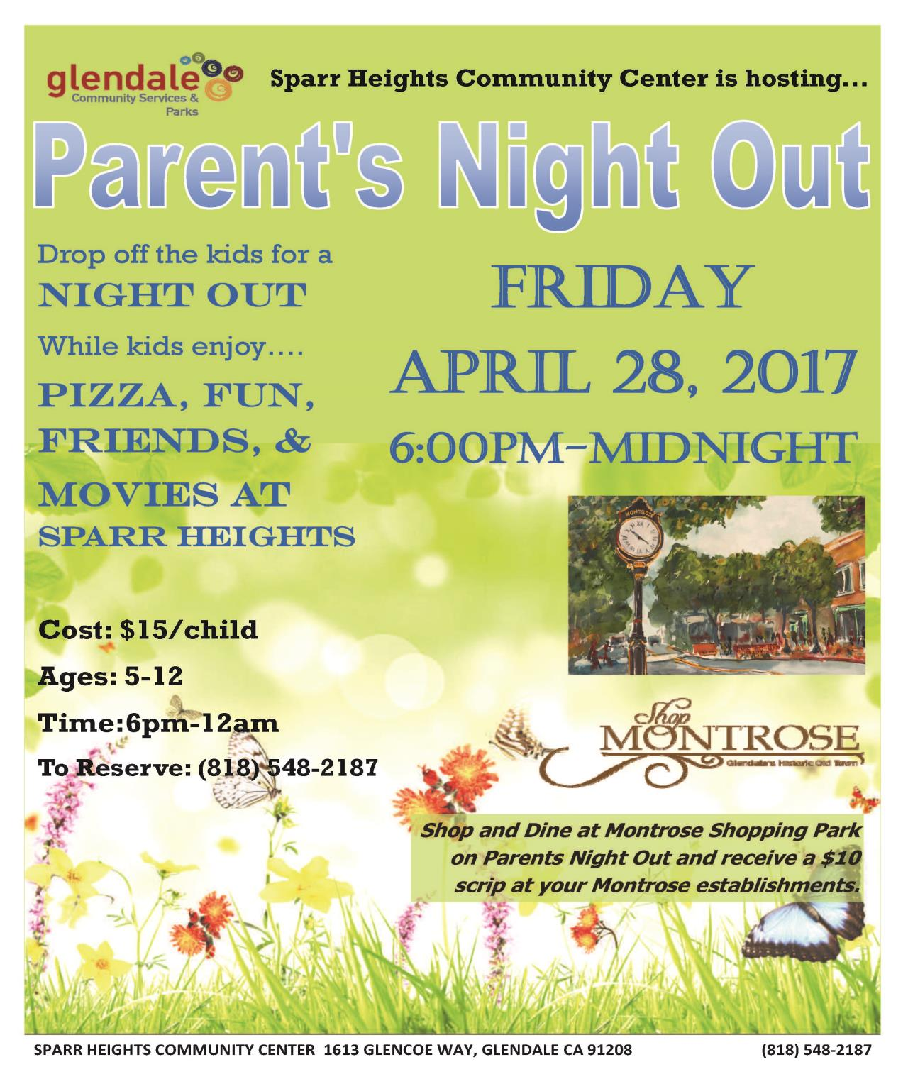 parents night out 2017-April 29th