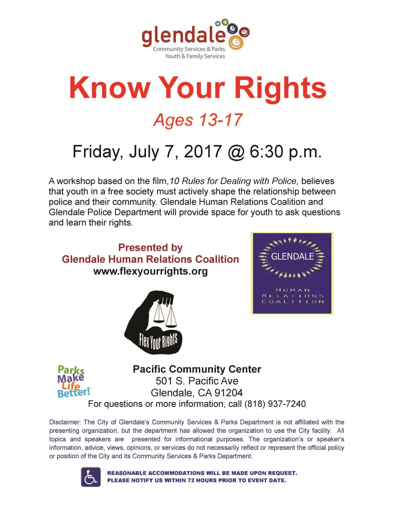 Know Your Rights 2017