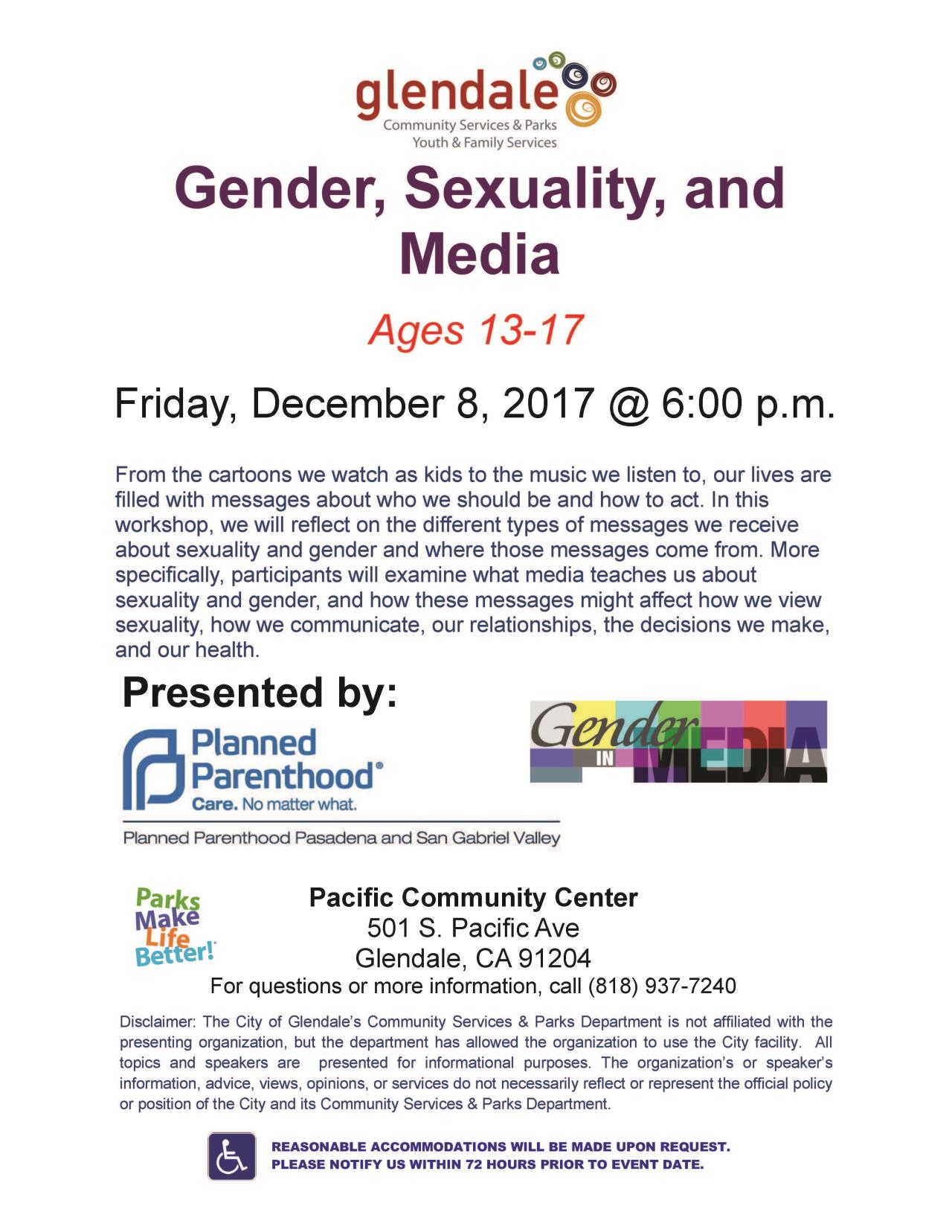 Gender Sexuality and Media 2017