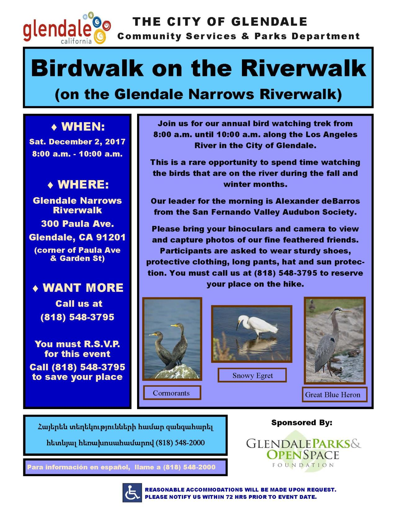 2017 12 Bird walk riverwalk