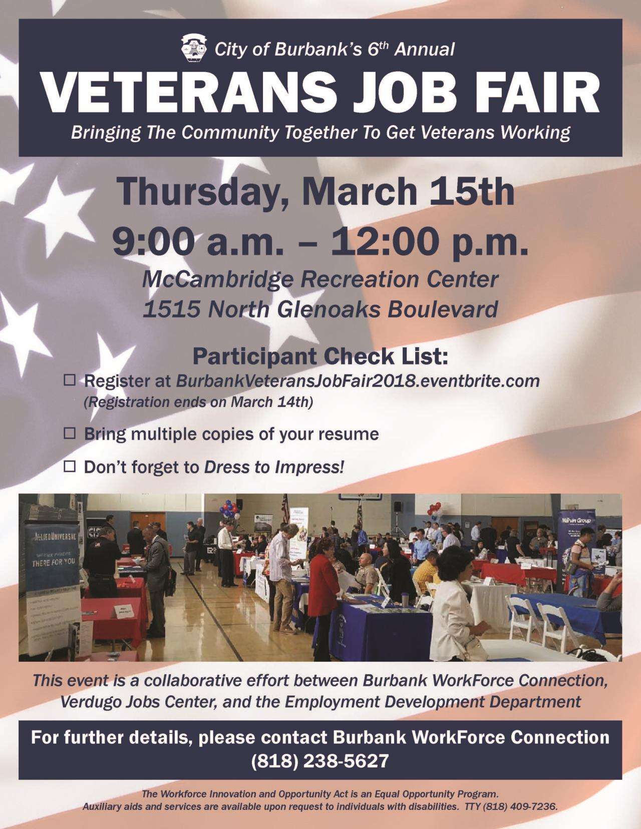 Veterans Job Fair Flyer 2018