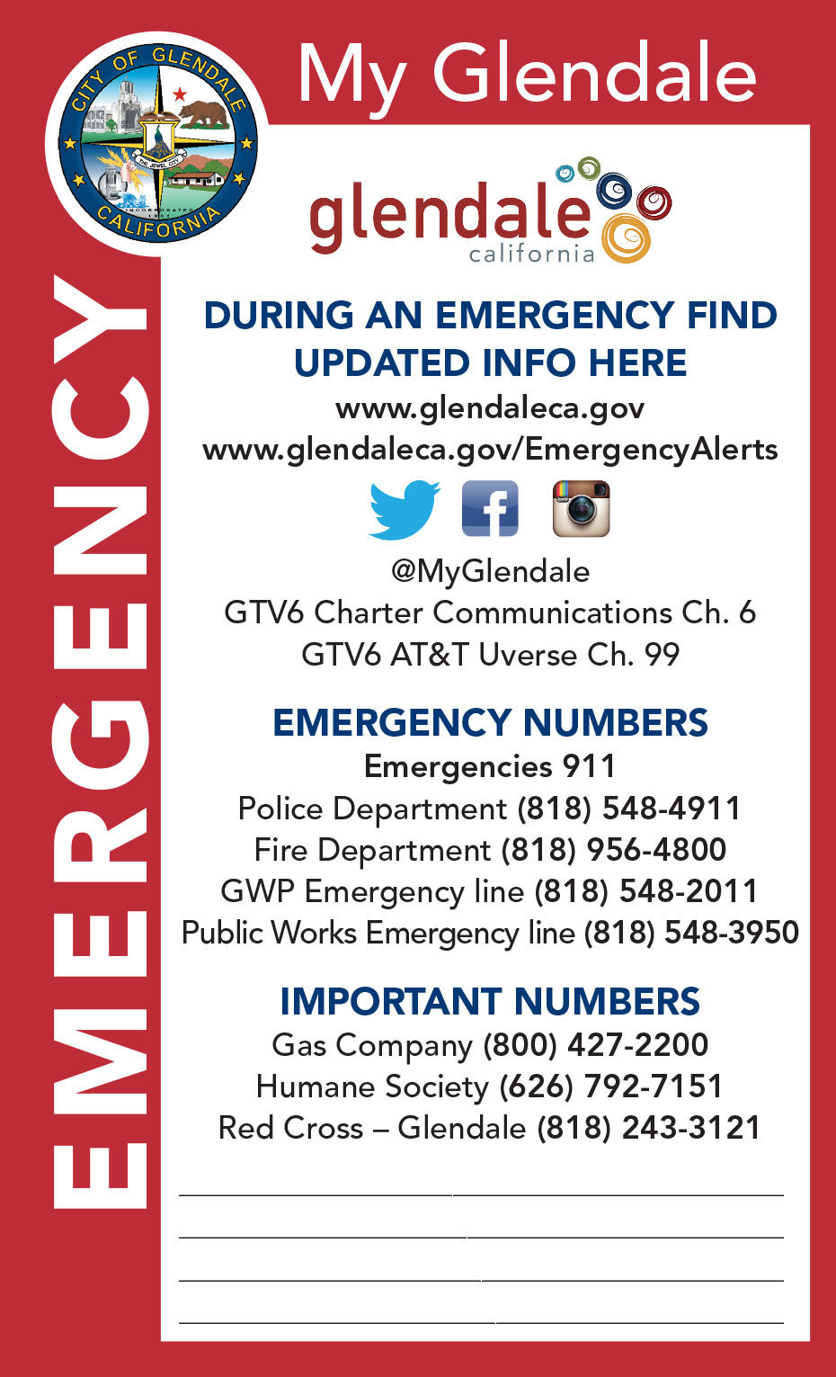 Phone Directory | City of Glendale, CA