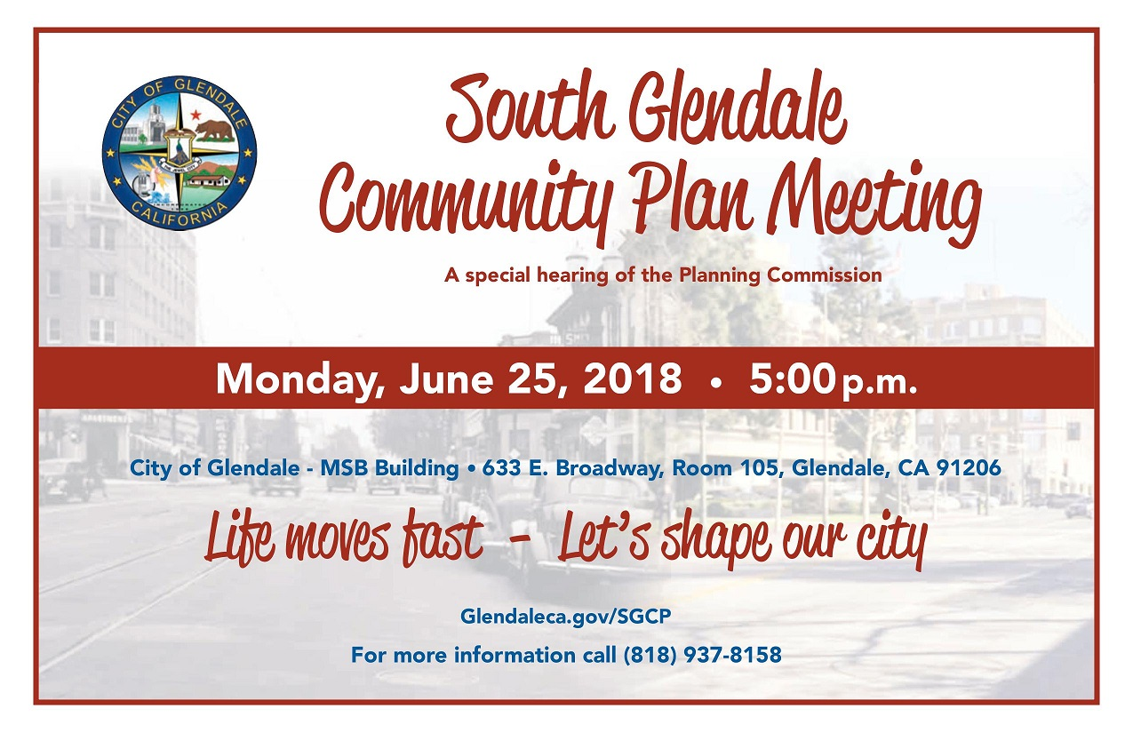 south glendale community plan special commission meeting