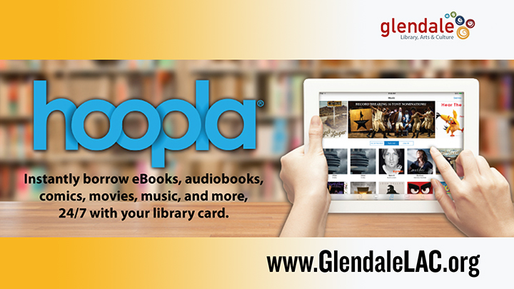 Library Hoopla Ad