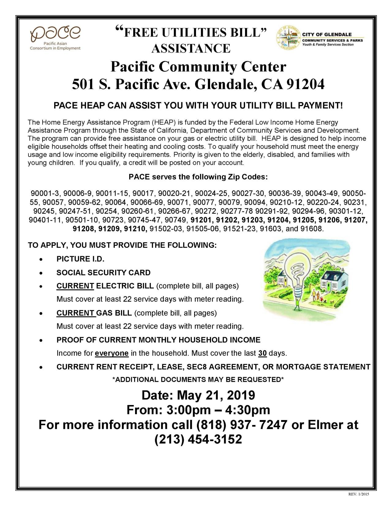 Pacific Community Center HEAP FLYER ENGLISH