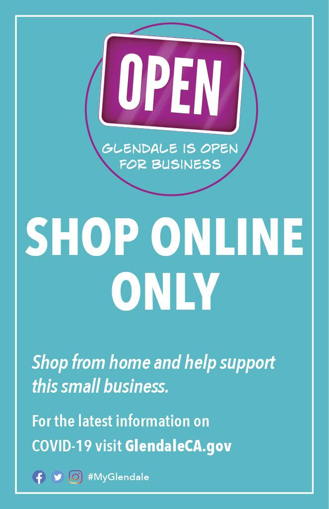Shop Online Sign