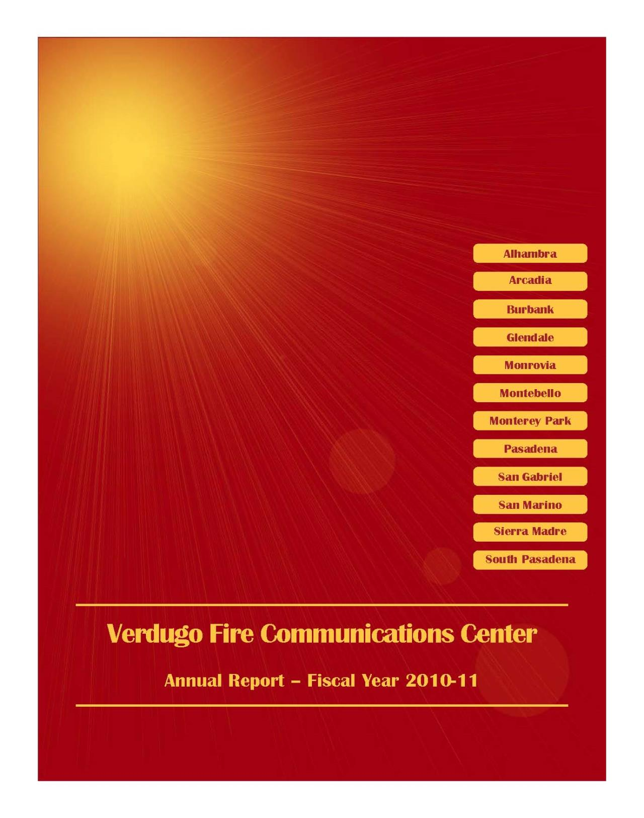 FY 2010-2011 annual report Cover