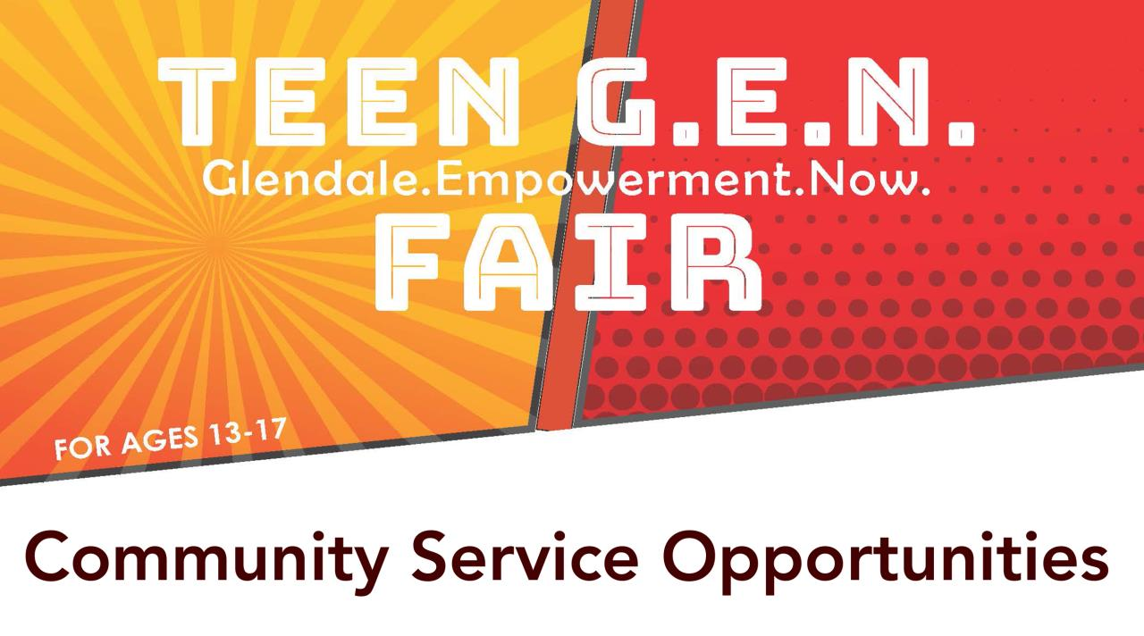 volunteer opportunities for teens   city of glendale, ca