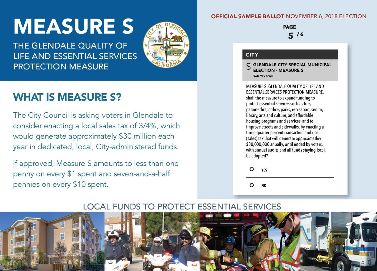 City of Glendale - Measure S - Palm Card - 10-11-18_Page_1 vote by mail
