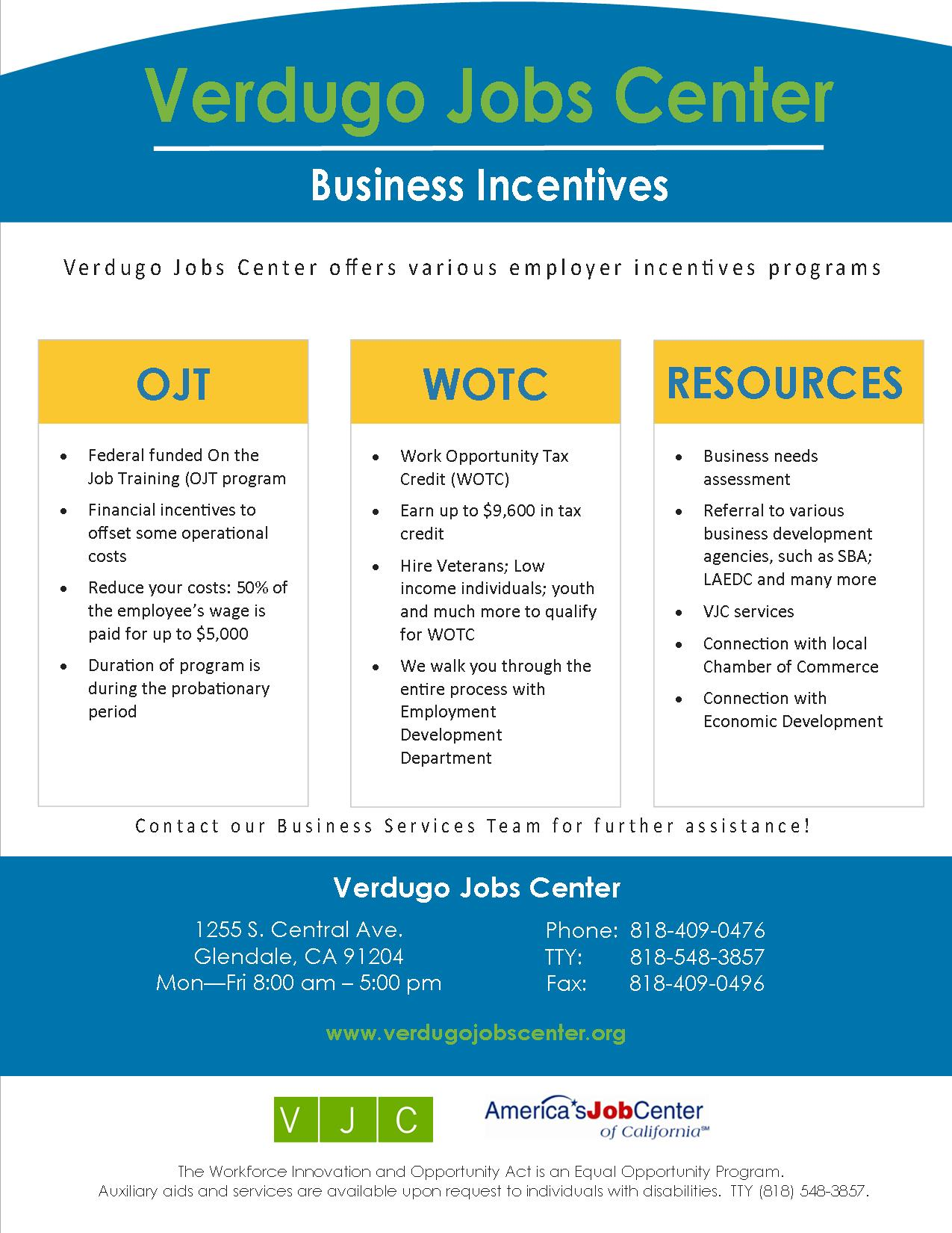 VJC Business Incentive Flyer Updated logo
