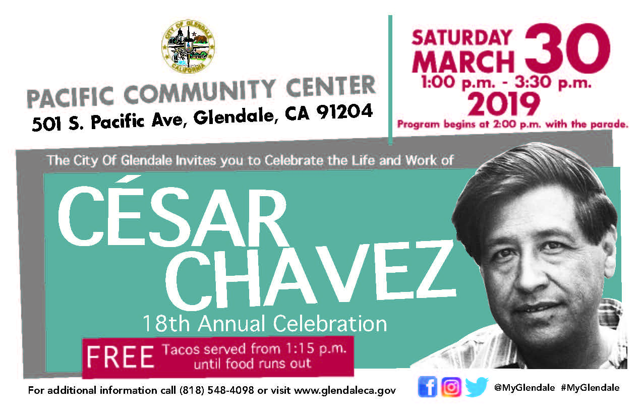 Cesar Chavez save the date card 2019