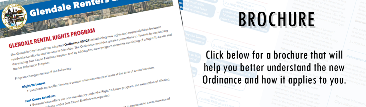 The Rental Right Brochure will help you better understand the new Ordinance.