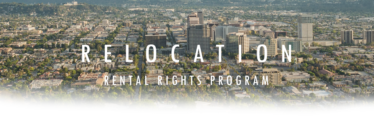 Relocation, Rental Rights Program. Image of Glendale from the sky.