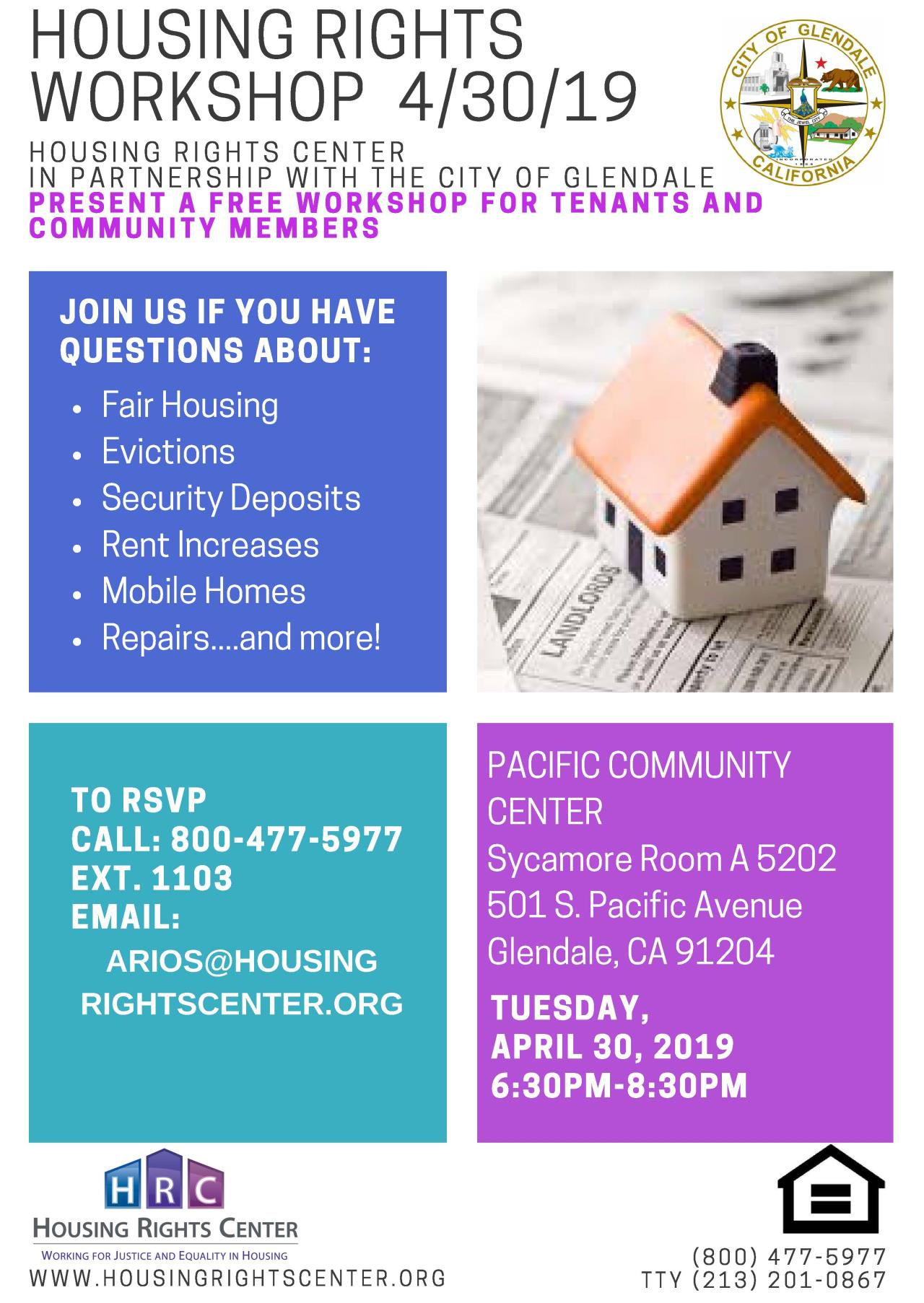 Glendale Housing Rights Workshop_04.30.2019 Event Flyer_Page_1