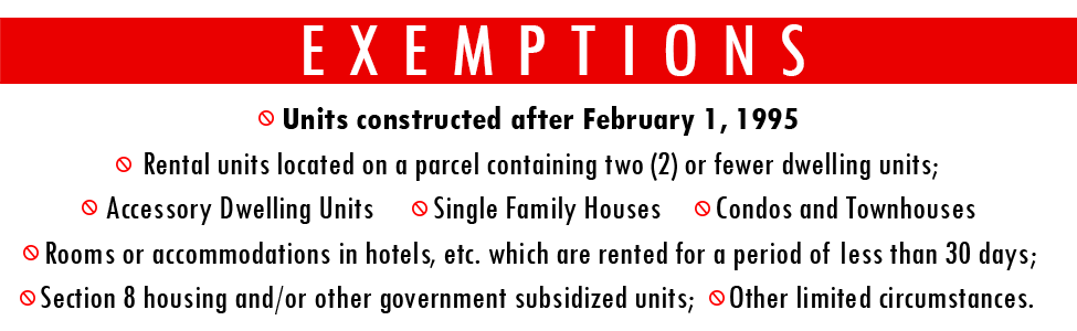 Exemptions Relocation