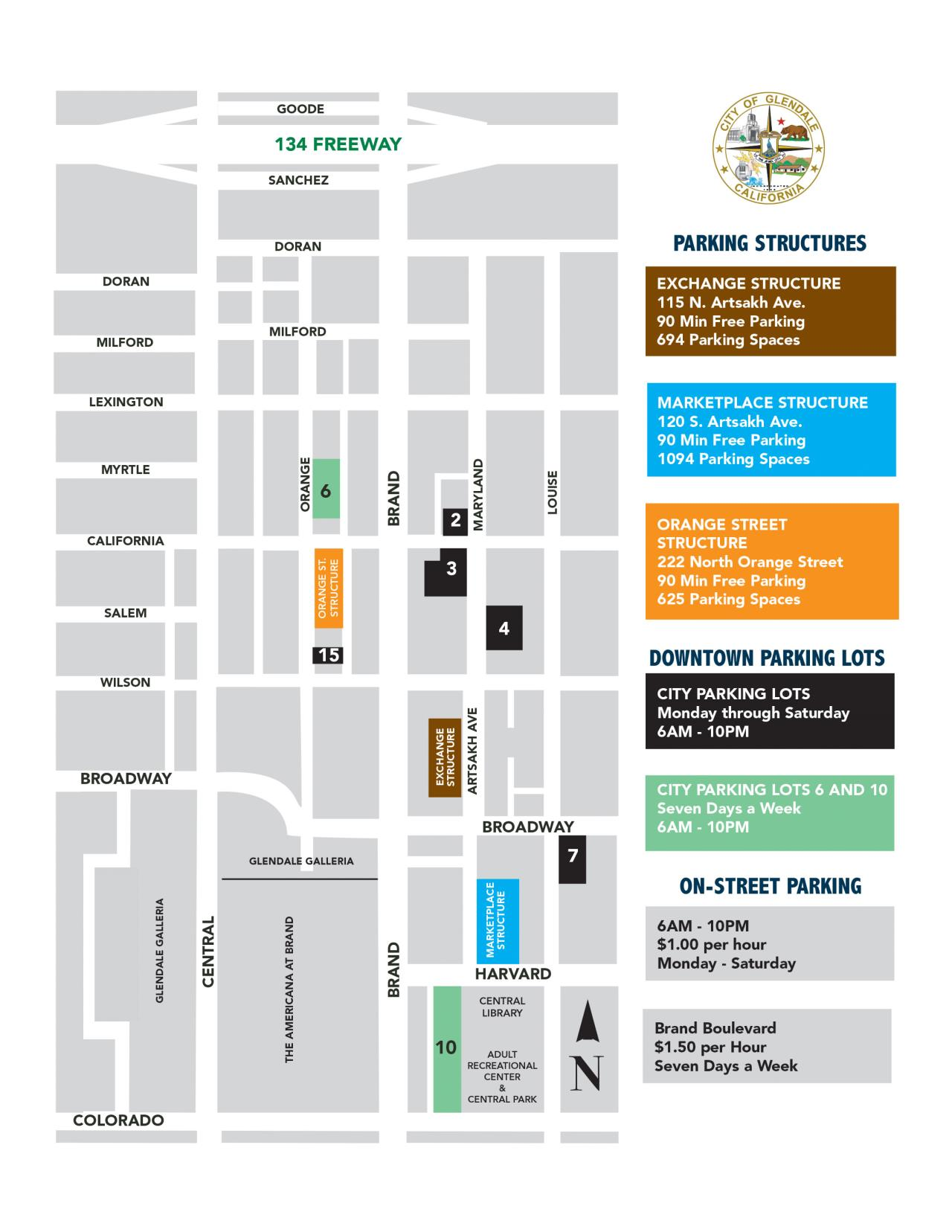 Downtown Parking Pricing & Hours | City of Glendale, CA