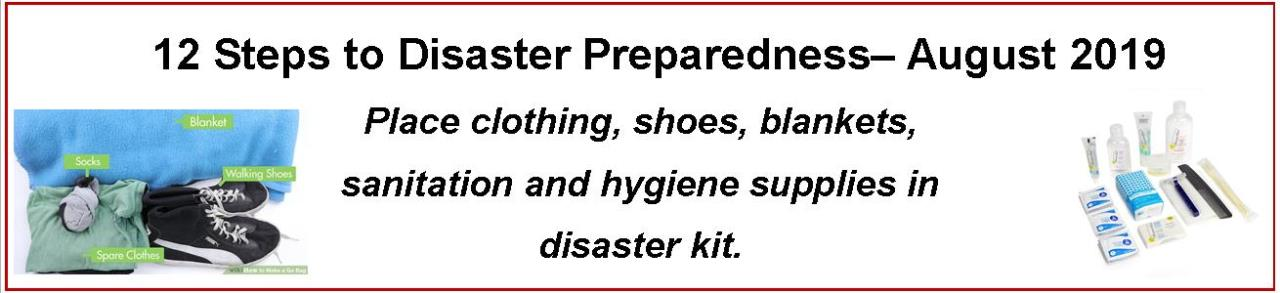 Emergency Preparedness - August