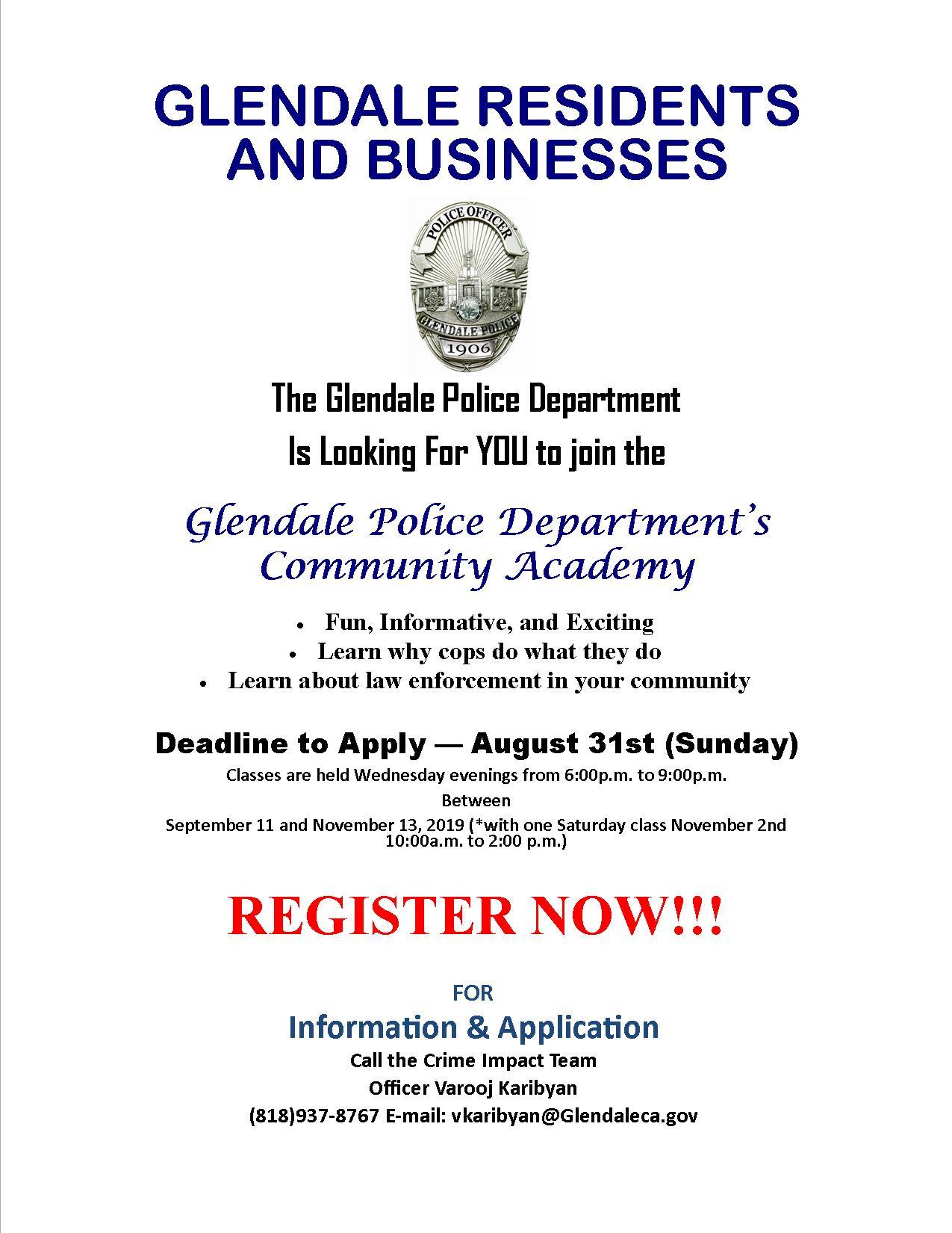 Community Academy   City of Glendale, CA