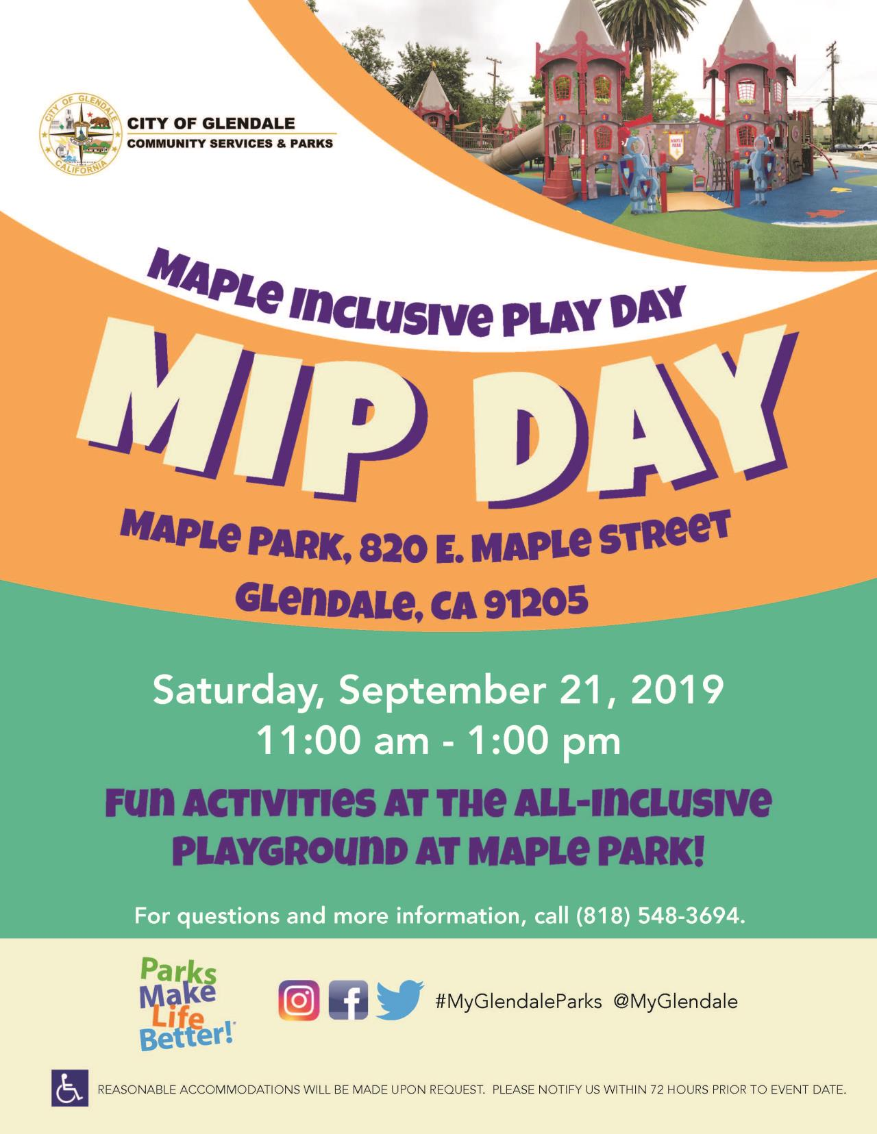Maple Park Day flyer 8-14