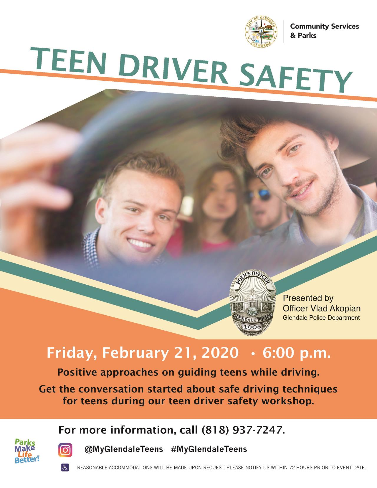 Teen Driver Safety Flyer 2020 NEW LOGO