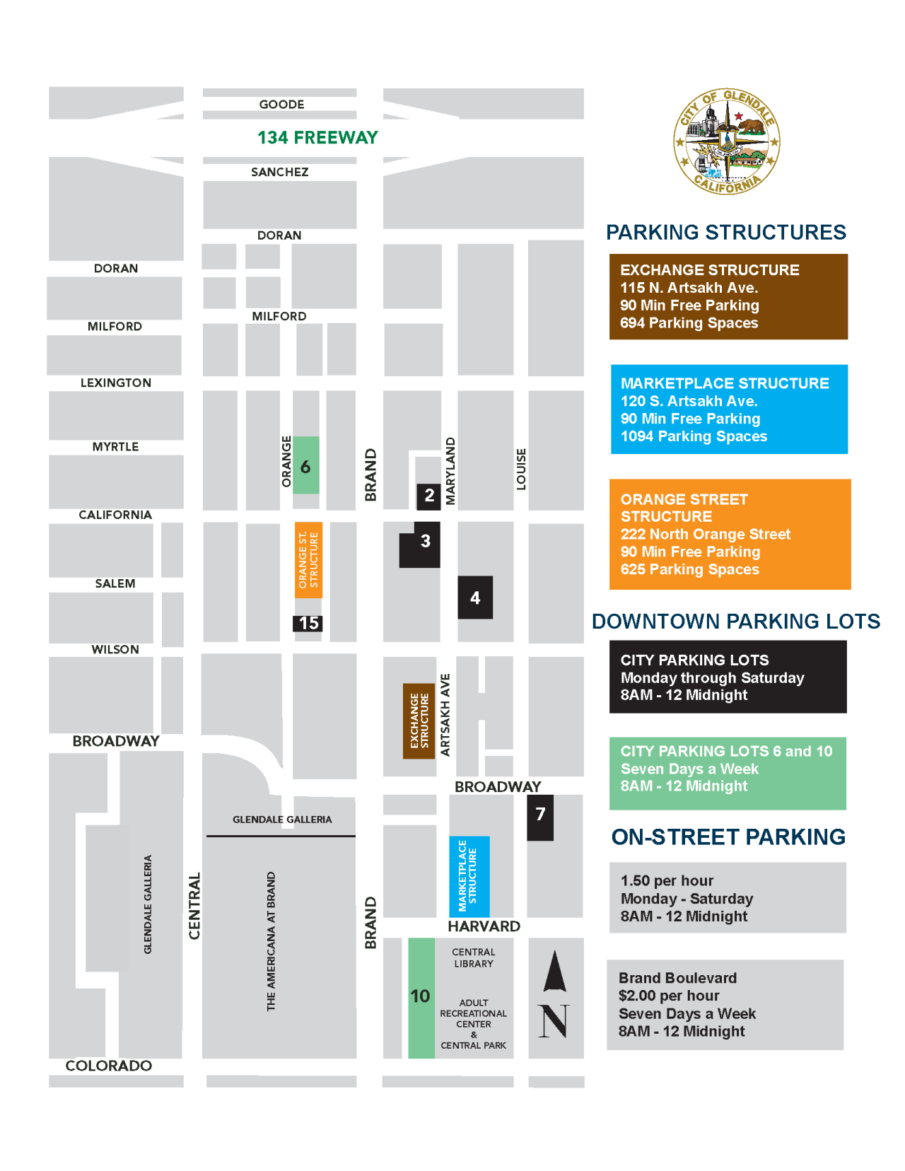 (2) PARKING Department Downtown GLENDALE MAP 2020 (2)