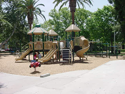 outdoor play equipment in a park