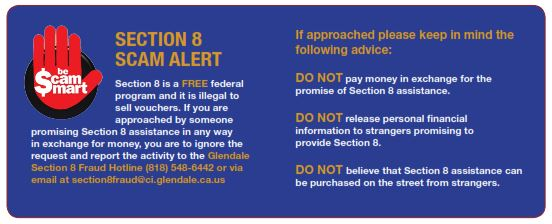 Section 8 scam information