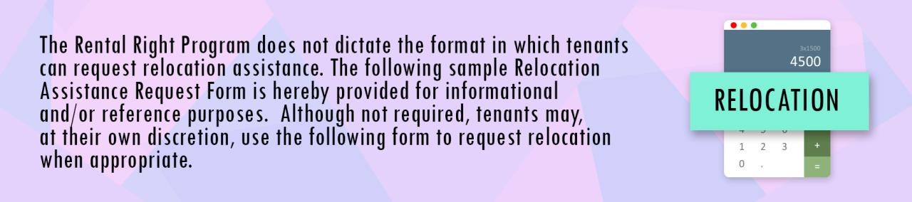 Relocation Form Button