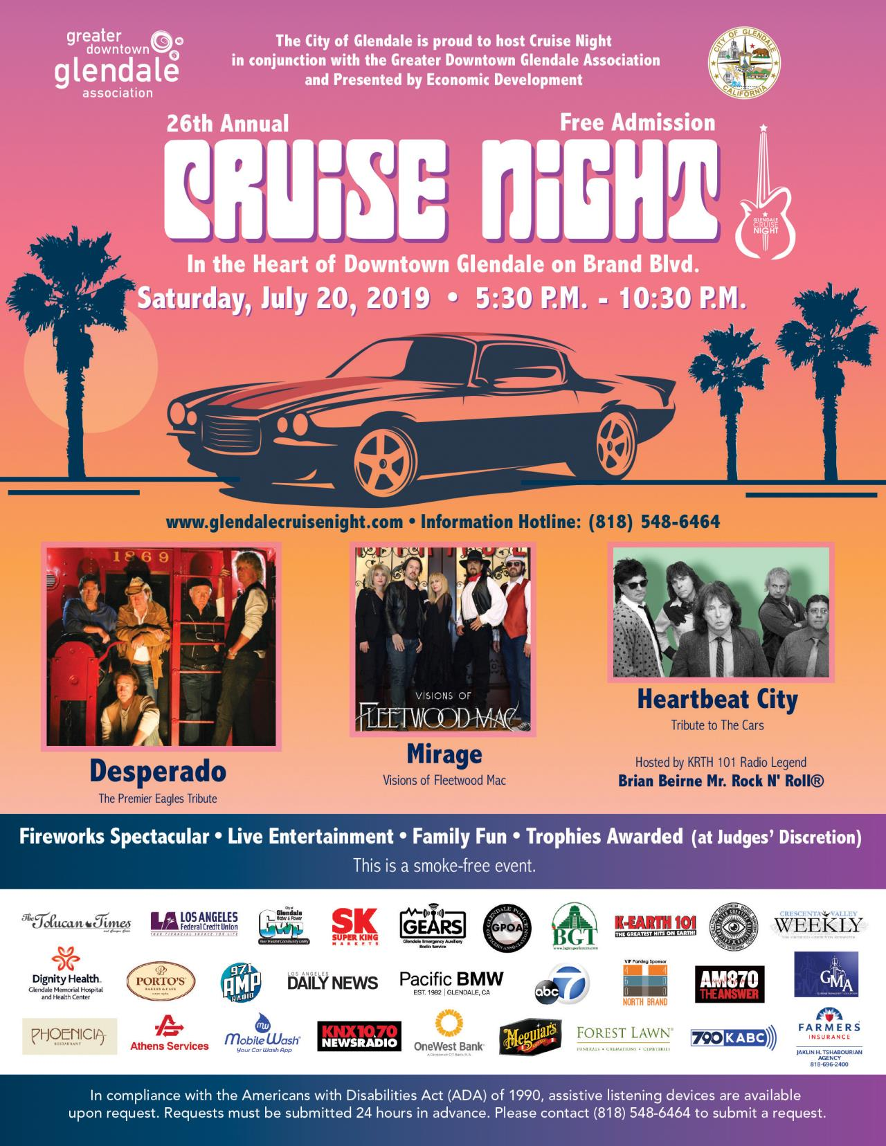 Cruise Night Save The Date Card 2019