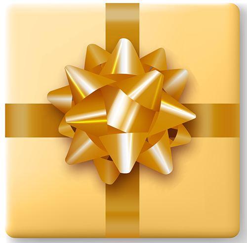 Present Gold Bow