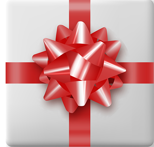Present Red Bow